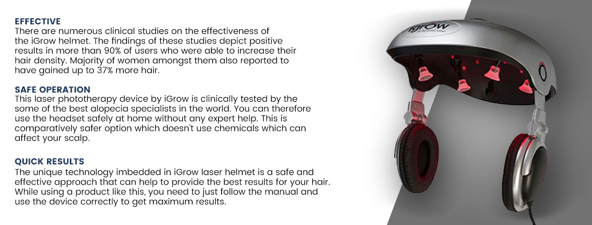 iGrow Hair Growth Helmet Features